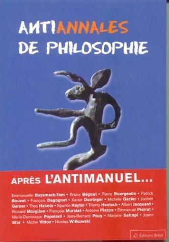 Antiannales de philosophie