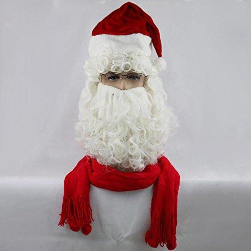JIAF Weihnachten Perücke Langer Bart Santa Perücke Urlaubs Party ()