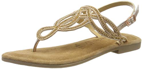Tamaris Damen 1-1-28115-22 Riemchensandalen, Gold (Rose METALLIC 952), 38 EU