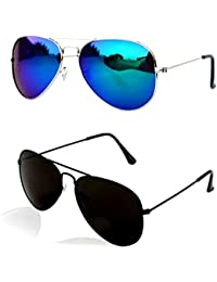 ac2ff1fcdc Younky Unisex Combo Offer Pack of UV Protected Aviator Stylish Mercury  Sunglasses For Men Women Boys   Girls…