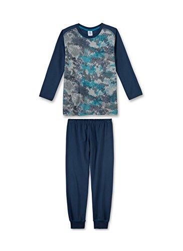 Sanetta Jungen Zweiteiliger Schlafanzug 243758, Grau (Metallic Mel. 1591), 152 (Herstellergröße: 152)