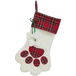 Daliuing Weihnachtsbaumschmuck Stoff Weihnachts Ornamente DIY Chrismas Anhänger Weihnachts Dekoration (Rot)