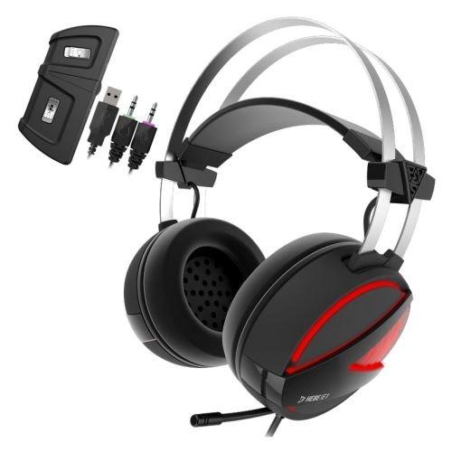 9. GAMDIAS Hebe E1 RGB 2.1 Virtual Surround Sound Gaming Headset