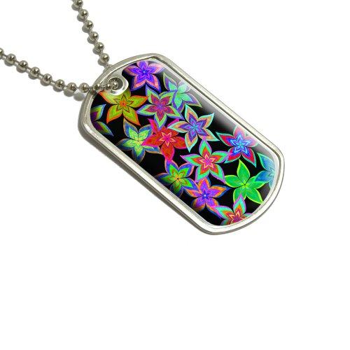Preisvergleich Produktbild Windrad Blume Black Dog Tag/Halskette mit Anhänger