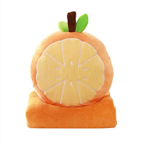 Precioul Karikatur Plüsch Kissen Für Obstkissen Hauptverzierung Jungen Mädchen Geschenke Kreative Obst-Serie Kissen Klimaanlage Decke Drei-in-Eins-Sofakissen Auto war -