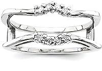 IceCarats 14k White Gold Diamond Guard