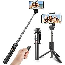 Palo Selfie Tripode Selfie Bluetooth Selfie Stick con Control Remoto Universal para Huawei Samsung iphone Bq Oneplus Xiaomi y Cámara Gopro-Negro para Equipos de 3.5-6 pulgadas