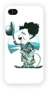 Charlie Chaplin Caricature Celebrites iPhone Case pour iPhone 4 et 4S