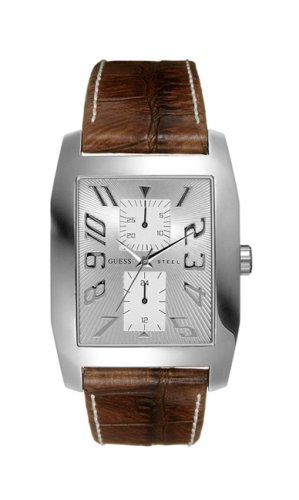 Guess 95200G2 Gents Multifunction Watch with Brown Imitation Croco Brown Leather Strap