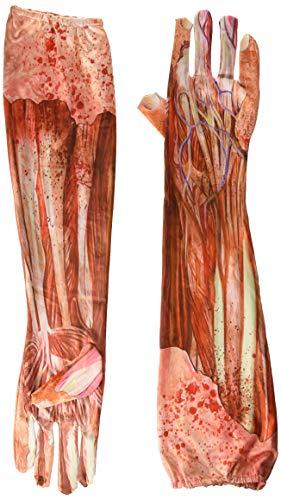 Körperwelten Kostüm - Lange Handschuhe - Blutige Muskeln