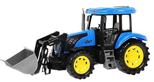 Modelo de Tractor para Niños Juguete con Efectos de Sonido y Luz - Azul