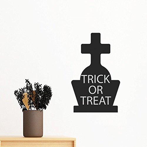 DIYthinker Halloween-Kreuz Grabstein entfernbarer Wand-Aufkleber-Kunst-Abziehbilder Wand-DIY Tapete Für Zimmer Aufkleber 60cm