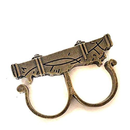 Kostüm Schmuck Sammler - Sling Ring Jewelry - Benedict Cumberbatch Ring Merchandise Cosplay Kostüm für Männer und Frauen (Bronze)