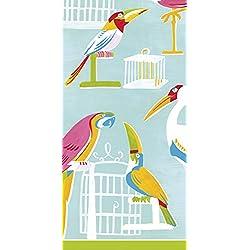 2Paquetes De Caspari papel bolsillo bolso tejidos–Hankies–la pajarera pájaros loros