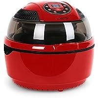 Klarstein VitAir Heißluftfritteuse (1400 Watt, 9 Liter Garraum, fett-frei Frittieren, Backen, Grillen, Rösten) rot