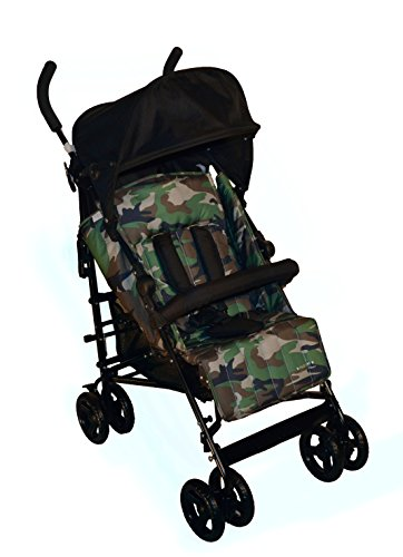 CARTY Pushchair Black Camouflage Camouflage - PLEBANI