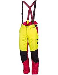 NEU! WORKY ® Forstschnittschutzhose Komfort, modern, rot/neongelb, gut sichtbar, Gr. 48 - 62U! WORKY ® Forstschnittschutzhose Komfort, modern, rot/neongelb, gut sichtbar, Gr. 48 - 62