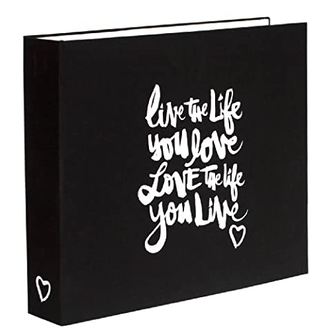 American Crafts Cardboard Amy Tan Plus One Screenprinted Cloth D-Ring Album 12-inch x 12-inch, Live The Life You