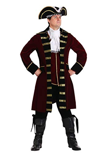 Hook Kostüm Deluxe Captain - Plus Size Deluxe Captain Hook Kostüm - 6X