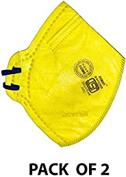 Intech - Intech -2 Plastic AntiPollution Foldable ISI Face Mask (Pack of 2)