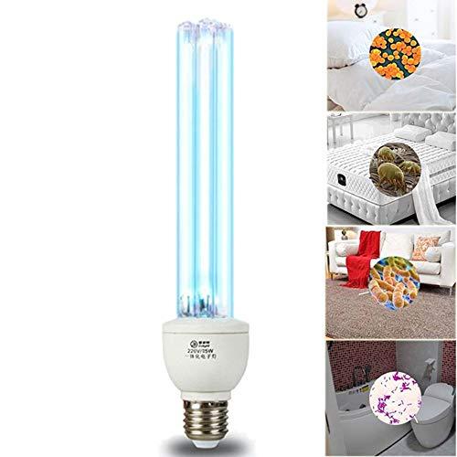 HLIGHT UVC germicida de la lámpara CFL Bulbo Voltaje: 220V Potencia: 25W E27 Base para Desinfectar...