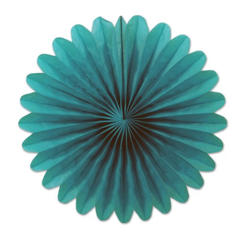 (Turquoise) - Beistle 15cm 6-Pack Tissue Fans, Mini