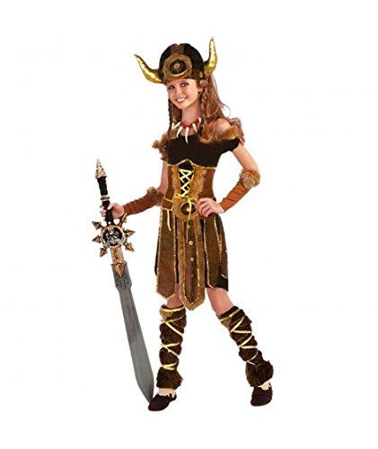 Disfraz Vikinga niña infantil para Carnaval (7-9 años)