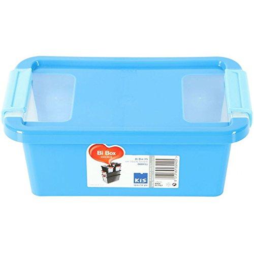 KIS 8451000 Bi Box, XS, 26.5 X 16 X 10 H, Azzurro/Trasparente