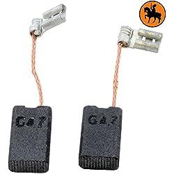 Kohlebürsten für BOSCH GBH 4 DFE Hammer -- 5x10x17mm -- 2.0x3.9x6.7'' -- Mit automatische Abschaltung