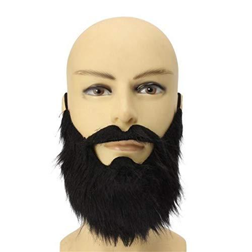 m Party Men Halloween Bart Gesichtsbehaarung Verkleidung Spiel Schnurrbart ()