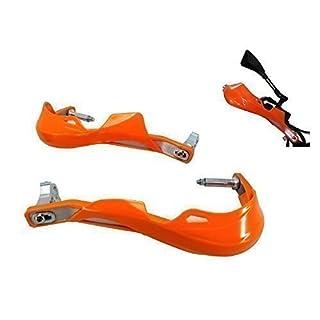 Orange Universelles Motorrad Aluminium Einsatz / Plastik Handschutz - 7/8 (22mm)