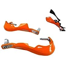 Naranja Inserto Universal De Aluminio Para Moto / Paramanos De Plástico - 7/8 (22mm)