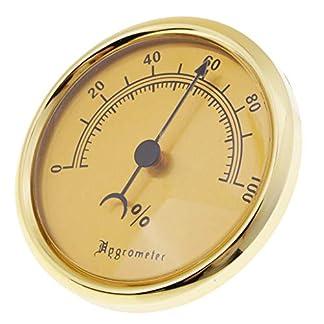 SM SunniMix Humidificador de Tabaco Higrómetro del Cigarro Reloj de Humedad Caja de Cigarrillos Accesorios
