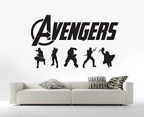 avengers-marvel-silhouettes-vinyl-wall-art-sticker-decal-mural-transfer-childrens-wall-stencil-black