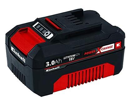 Einhell 4511341 BATERIA Repuesto 18V 3,0Ah 60 min, 18 V, Negro, Rojo, 3.0 Ah, Tiempo de Carga Minutos