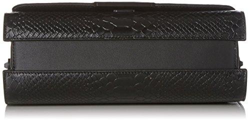 Kendall + Kylie Damen Bobino Snake Clutch, 10x16.5x27 cm Schwarz (Black)