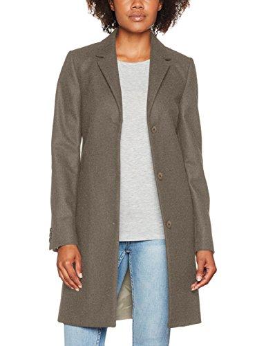 GANT Damen Jacke Wool Cashmere Coat, Grau (Grey Melange), 12 (Herstellergröße: Medium)