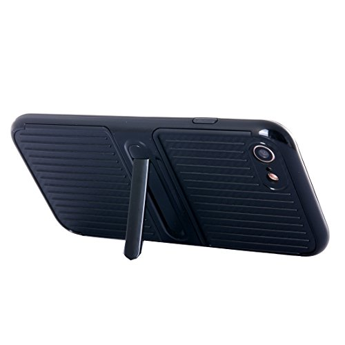 Phone case & Hülle Für iPhone 6 / 6s, Shockproof TPU + PC Schutzhülle mit Halter ( Color : Rose gold ) Black