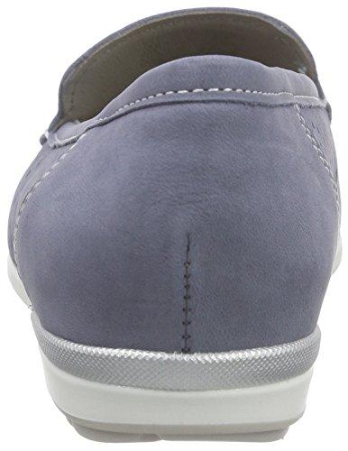 ara Monterey Damen Mokassin Blau (jeans/silber 08)