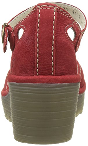 FLY London Damen Yuna Pumps, Blau Rot (Lipstick Red)