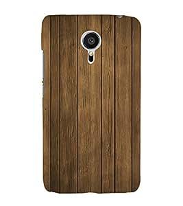 Wooden Pattern 3D Hard Polycarbonate Designer Back Case Cover for Meizu MX5