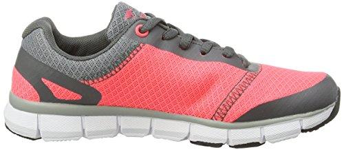 KangaROOS K-bluerun 8017, Baskets Basses mixte adulte Rouge - Rot (pink/ dk grey 602)