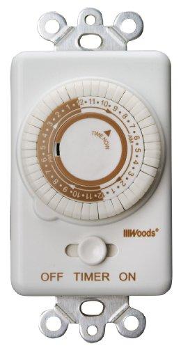 Woods 59745Schalter Timer wiederholt Tägliche, 24-Stunden-Zyklus, Licht Schalter zu Timer von Wald (Metall Wac)