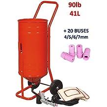 Chorreadora Mobile sobre ruedas 90lb 41L + 20boquillas