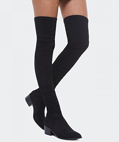 Inuovo Da Donna High Rebecca Thigh Boots Nero Nero