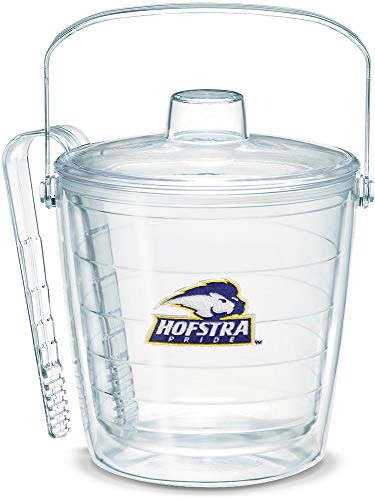 Tervis 1068814 Hofstra Pride Ice Bucket with Emblem and Clear Lid 87oz Ice Bucket, Clear -