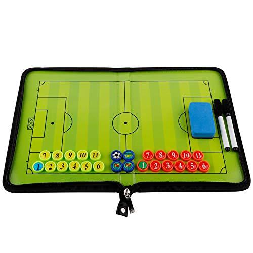 Taktisches Board mit doppelseitigem Magnet, Taktische Strategie-Clipboards mit trocken abwischbarem Reißverschluss und Marker, faltbar und tragbar