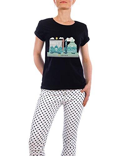 """Design T-Shirt Frauen Earth Positive """"Venice Skyline"""" - stylisches Shirt Städte Städte / Venedig Reise Reise / Länder von GREENGREENDREAMS Schwarz"""