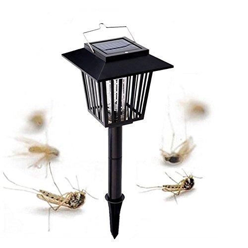 XF Lighting Solar Mückenvernichter UV Bug Zapper Insektenlampe Fliegen Hängen Oder In Den Boden Stecken Dual-Modi Garten Rasen Licht