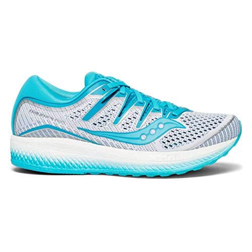 Saucony Triumph ISO 5, Scarpe Running Donna, Blu (White/Blue 36), 40 EU